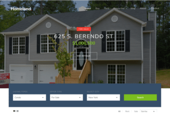 Homeland – Free Real Estate Website Template Download