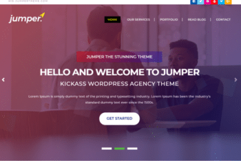 Jumper – Free Personal Portfolio Website Template Download