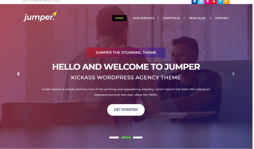 Jumper - free personal portfolio website template