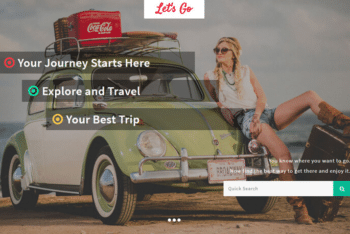 Let's Go – Free Travel Agency Website Template