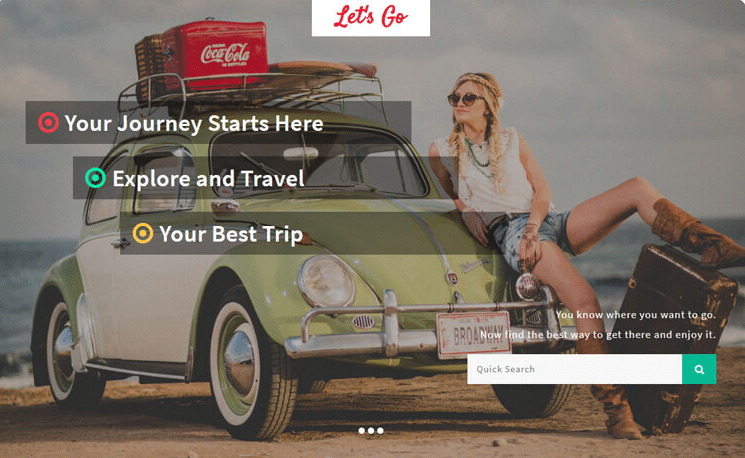 Let's Go - free travel agency website template