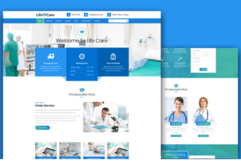 Life Care – Free Medical Website Template