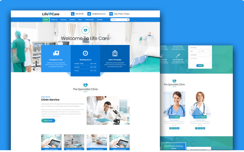 Life Care - Free Medical Website Template