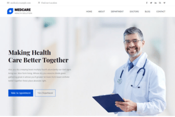 Download Medcare – Free Medical Website Template