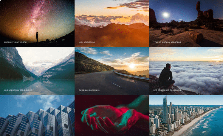 Multiverse - free photography website template