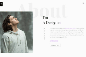 Noah – Free Personal Landing Page Template Download