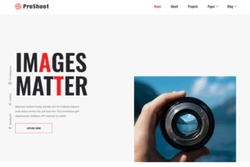 Proshoot – Free Photography Website Template Download
