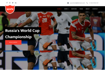 Sportz – Free Sports Website Template Download