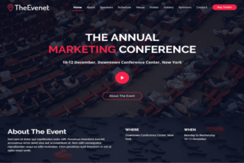 TheEvent – Free Event Website Template Download