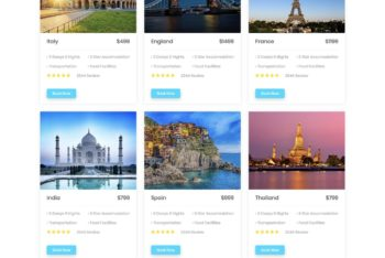 Download TourNest – HTML Template for Travel Website for Free