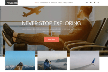 Travelers – Free Travel Agency Website Template Download