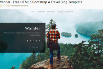Wander – Free Travel Blog Template Download
