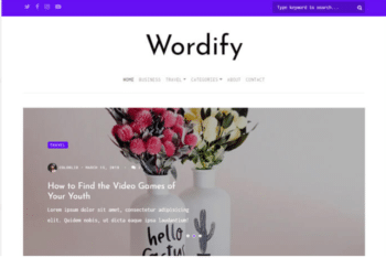 Wordify – Free Personal Blog Website Template Download
