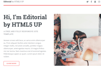 Editorial – Free & Responsive HTML Site Template