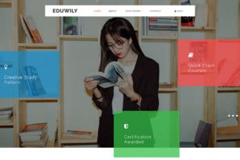 EduWily – Education Category Web Template Download