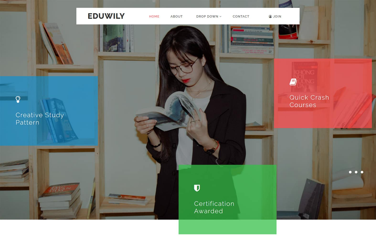 EduWily - Education Category Web Template