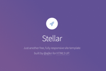 Stellar – A Free Responsive HTML Site Template