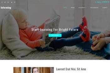 Informing – Education Website Template Download