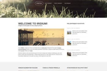 Iridium – Responsive Blog Template for Free