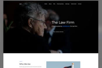 Law – A Law Firm Site Bootstrap Template for Free