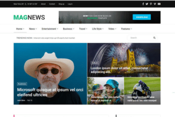 DownMagnews2 – Free News Website Templateload
