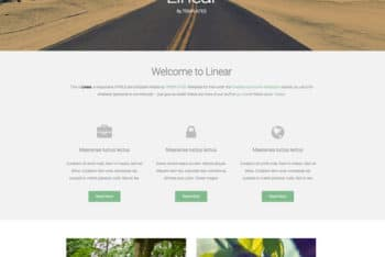 Minimal Linear – Responsive Template for Free