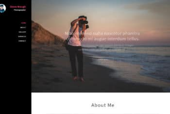 Polaroid – Photography Category Web Template Download