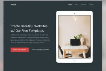 Present – HTML Bootstrap Website Template for Free