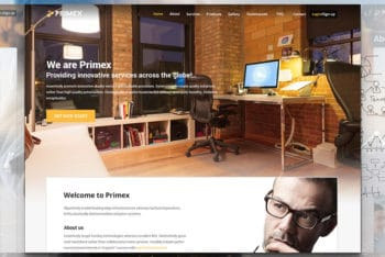 Primex – Responsive Bootstrap Business Website Template for Free