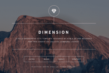 Dimension – A Responsive HTML Template for Websites