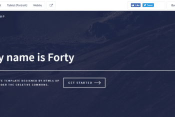 Forty – Responsive Site Template Available with Clean HTML Layout