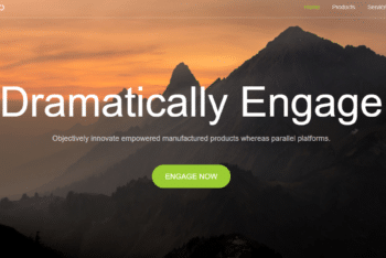 Simple Business Website HTML Template for Free
