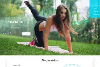 Strength – Fitness Website Template Download