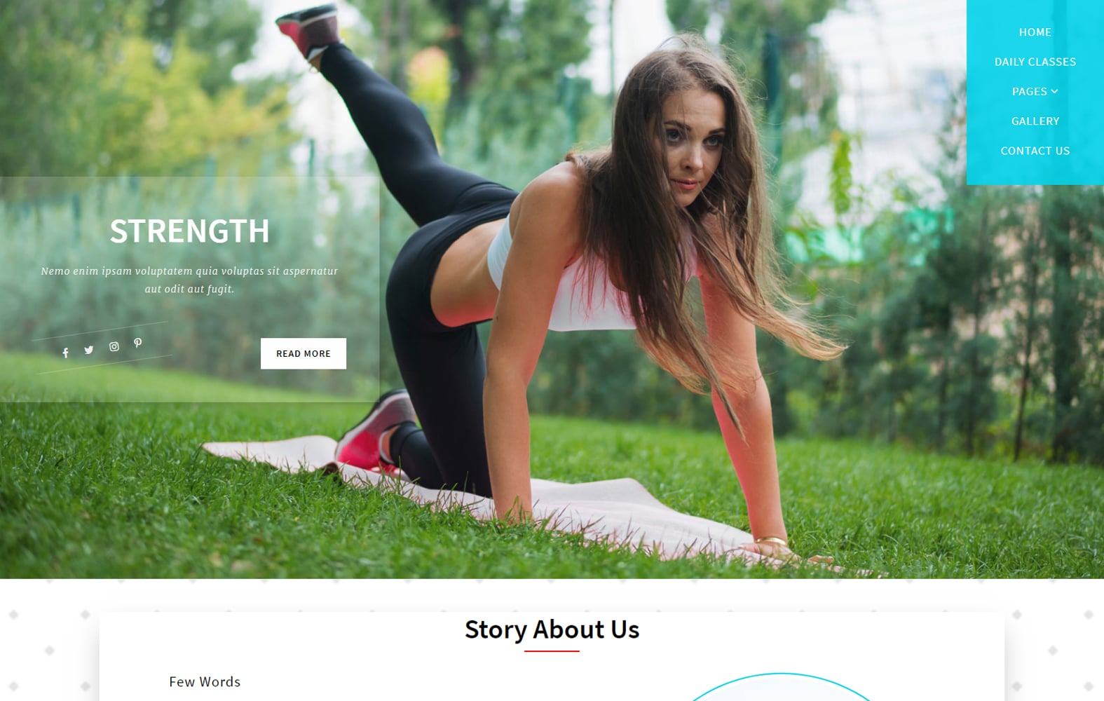 Strength - fitness website template