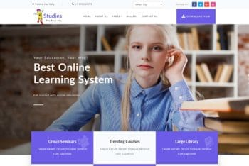 Studies – Education Website Template Download