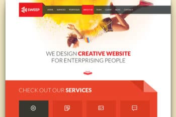 Sweep – Free Business Website Template Built with Bootstrap 3