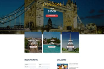 Travel Agency Website HTML Template Available with Responsive & Simple Layout