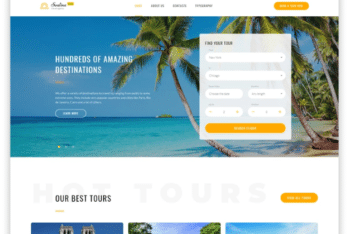 Free Responsive HTML Template for Travel Websites