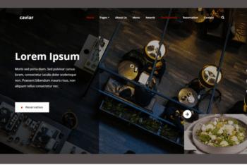 Caviar – Free HTML5 Bootstrap 4 Restaurant Website Template