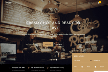 Coffee Blend – Free Coffee Website Template Download