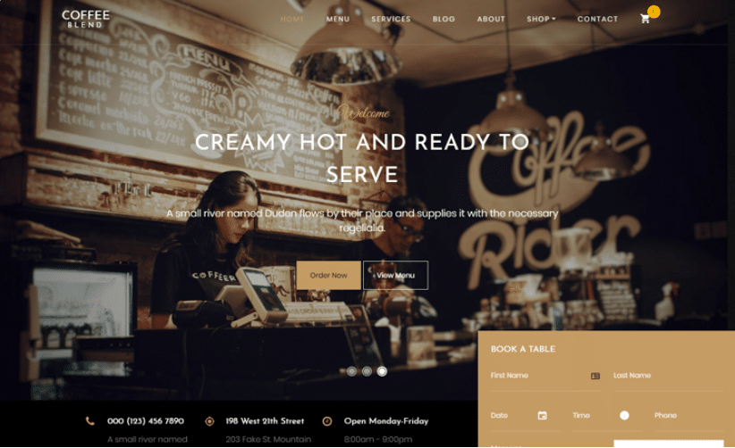 Coffee Blend - free coffee website template