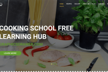 Cooking School – Restaurant Website Template