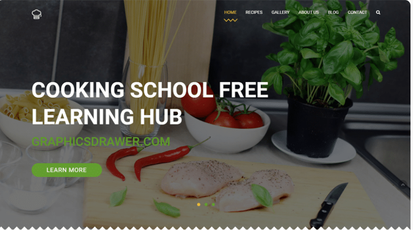 Cooking School - restaurant website template