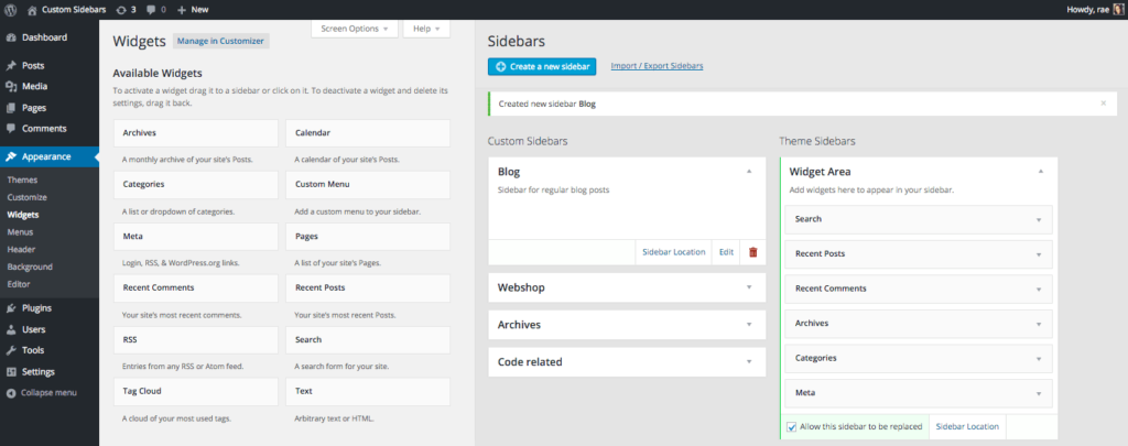 Displaying products in website sidebar: