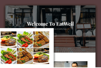 EatWell – Responsive Restaurant Template