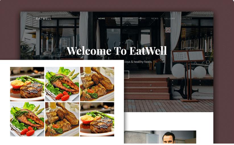EatWell - responsive restaurant template