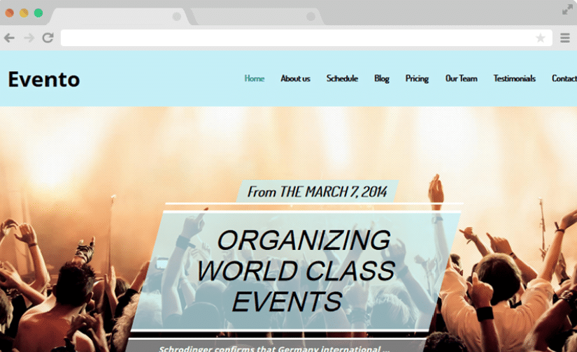 Evento - event website template