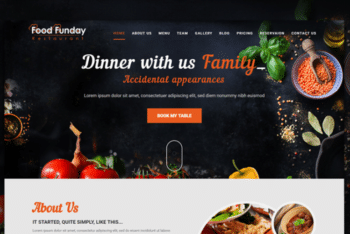 Food Funday – Restaurant Template Download