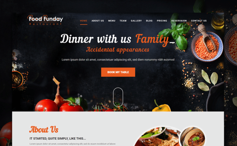 Food Funday - Restaurant Template