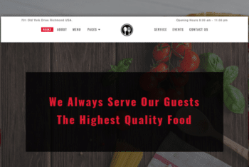 Foodque – Free Restaurant Website Template
